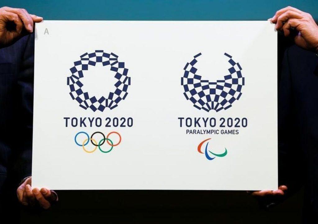 Logo dos Jogos Olímpicos Tóquio 2020 vistos durante evento no Japão.   25/04/2016  REUTERS/Thomas Peter/File Photo